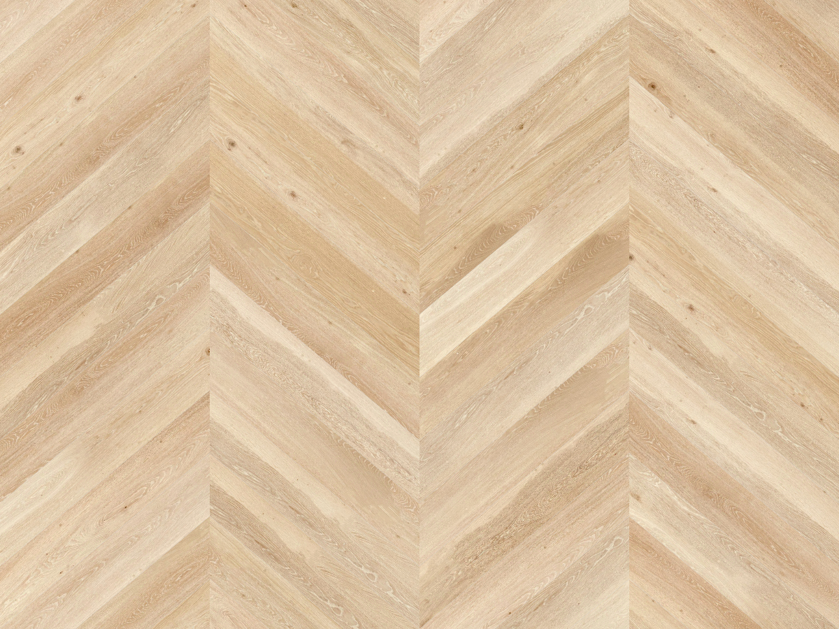 A seamless wood texture with ash boards arranged in a chevron pattern