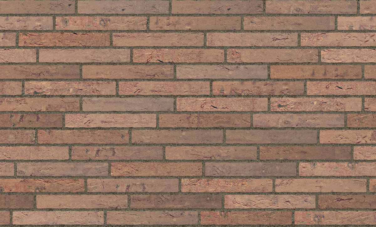 A seamless brick texture with creased brick  arranged in a staggered pattern