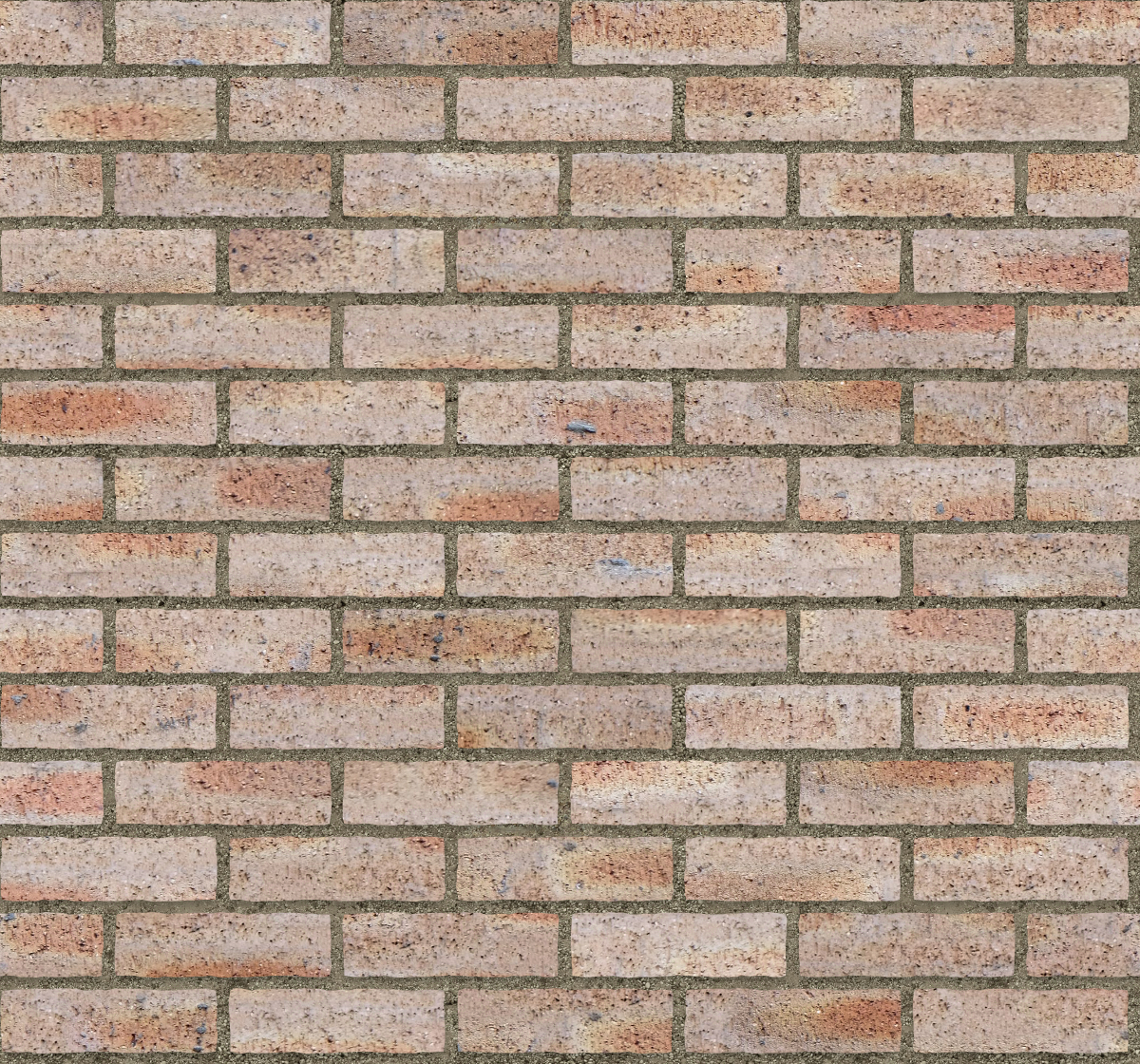 A seamless brick texture with dragfaced brick  arranged in a stretcher pattern
