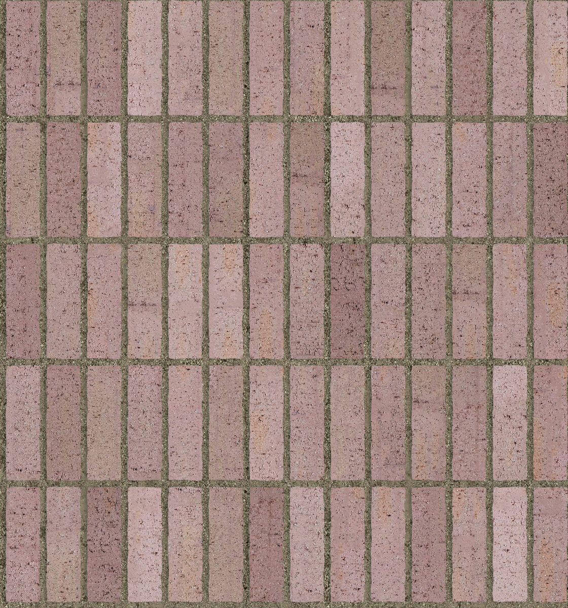 A seamless brick texture with even drag brick  arranged in a stack pattern