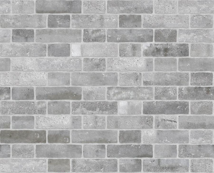 A seamless brick texture with finnish grey brick  arranged in a flemish pattern