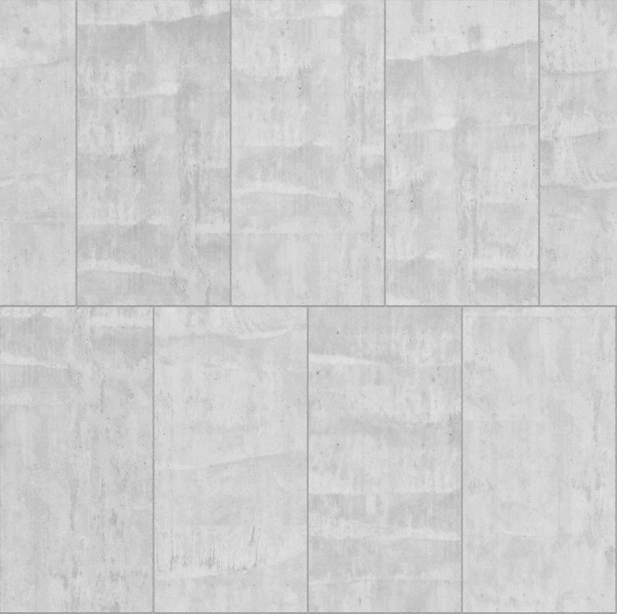 A seamless concrete texture with in situ concrete blocks arranged in a stretcher pattern