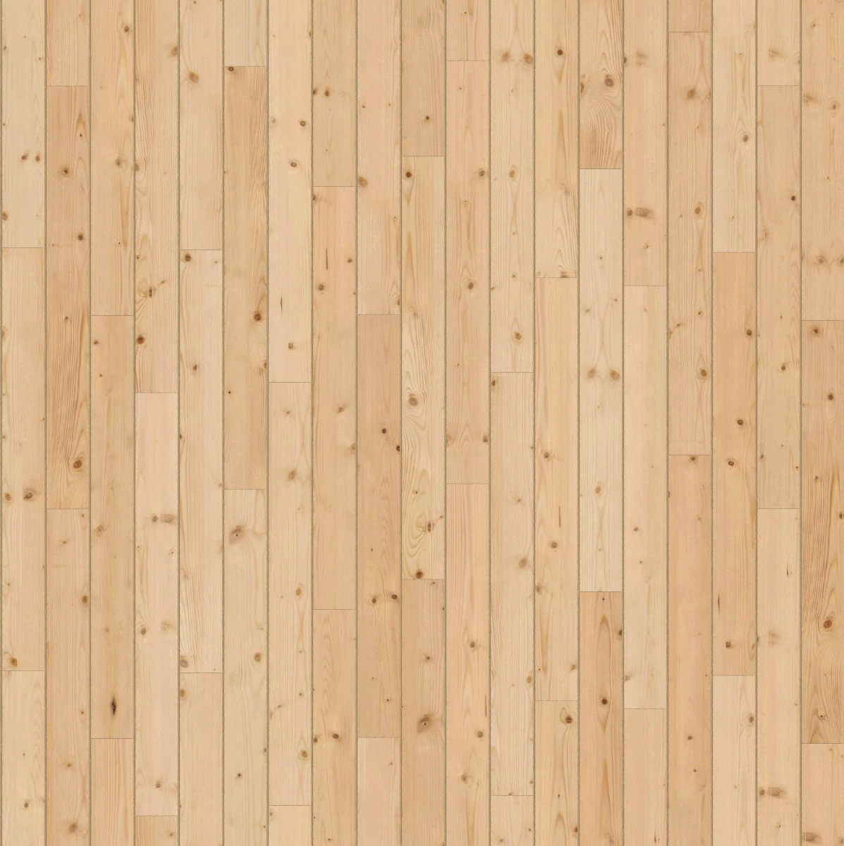 A seamless wood texture with knotted timber boards arranged in a staggered pattern