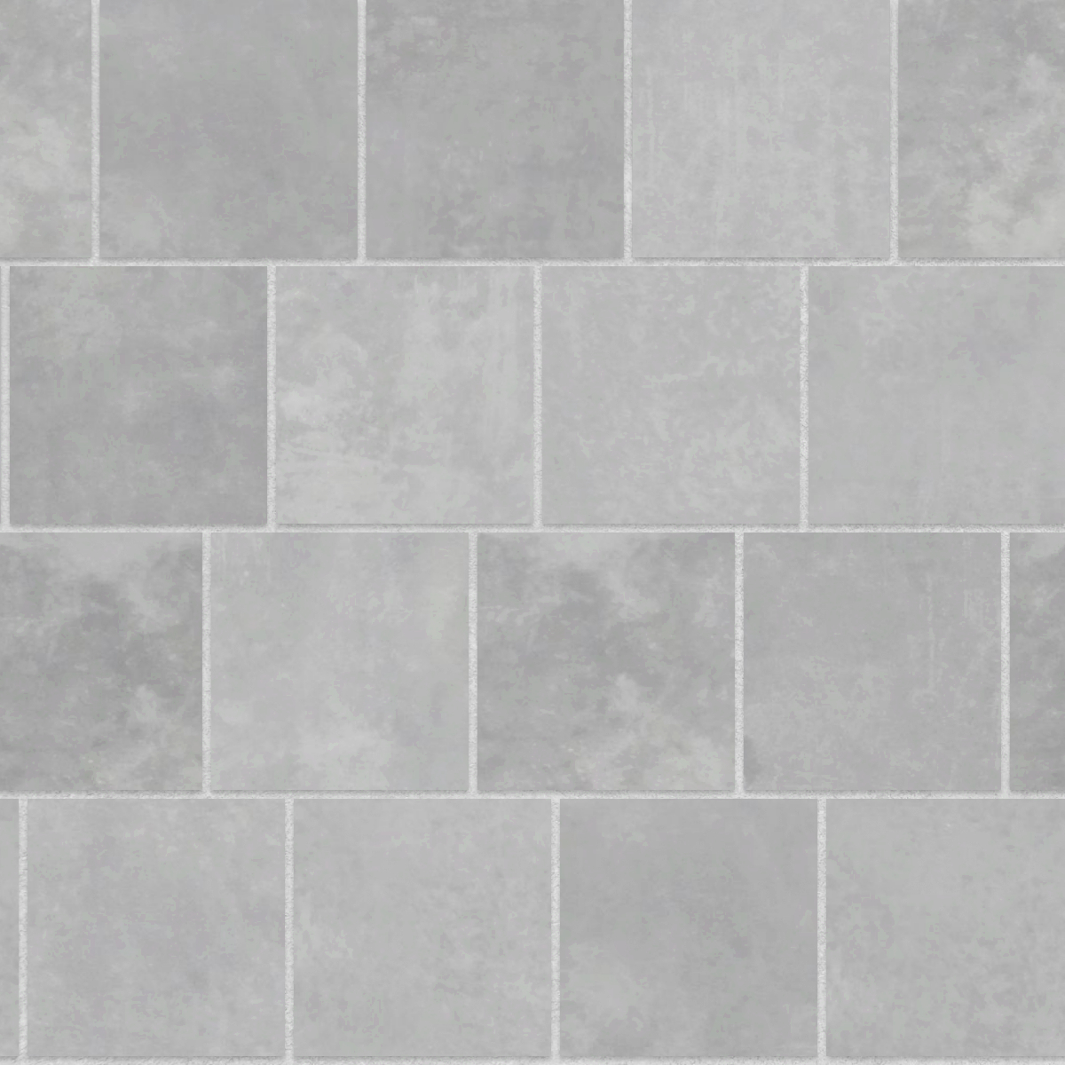 A seamless concrete texture with polished concrete blocks arranged in a staggered pattern