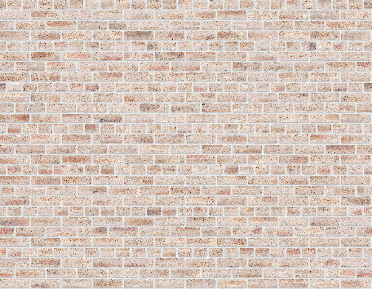 A seamless brick texture with dragfaced brick  arranged in a common pattern