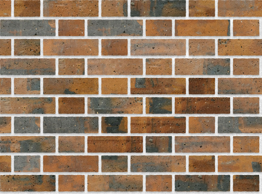 A seamless brick texture with industrial brick  arranged in a flemish pattern