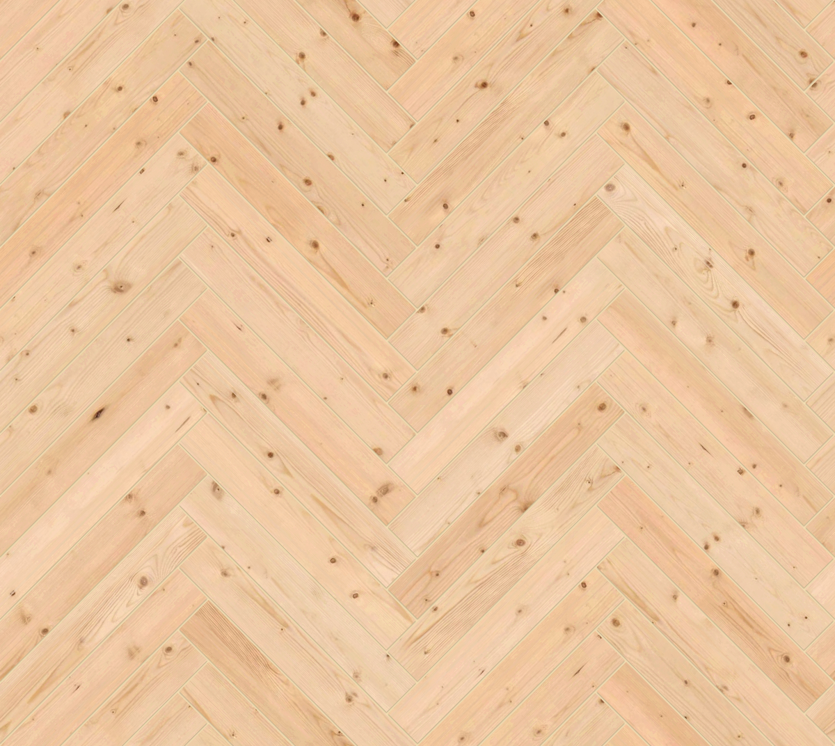 A seamless wood texture with knotted timber boards arranged in a herringbone pattern