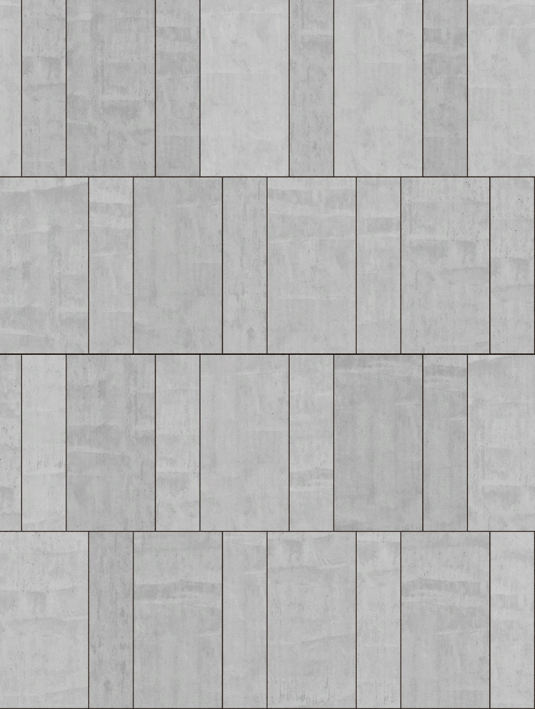 A seamless concrete texture with in situ concrete blocks arranged in a flemish pattern