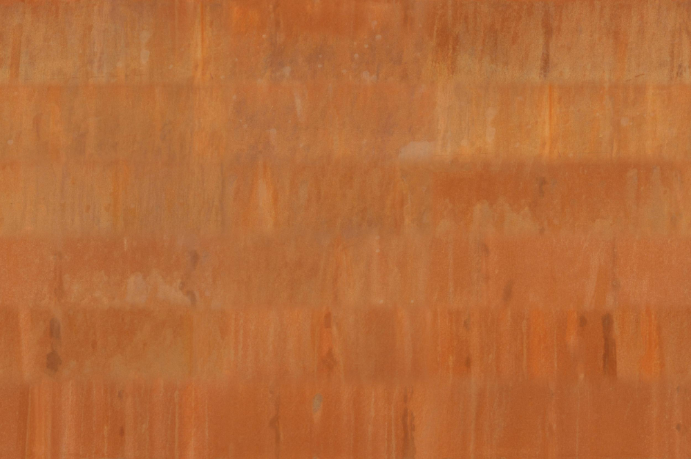 A seamless metal texture with corten steel a sheets arranged in a none pattern