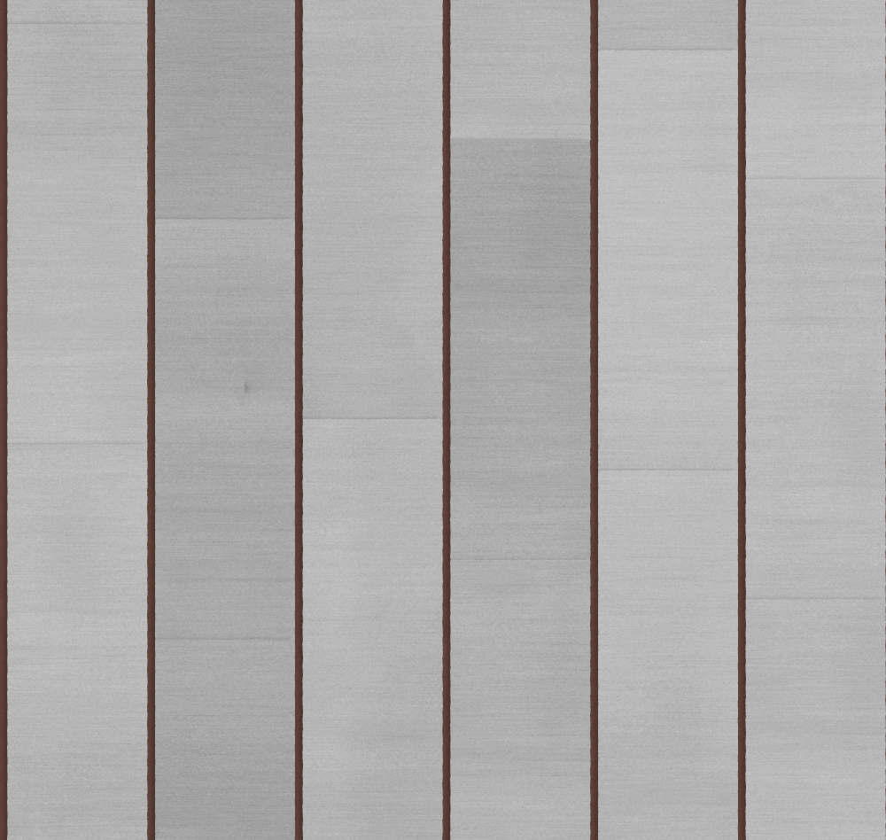A seamless metal texture with aluminium sheets arranged in a staggered pattern
