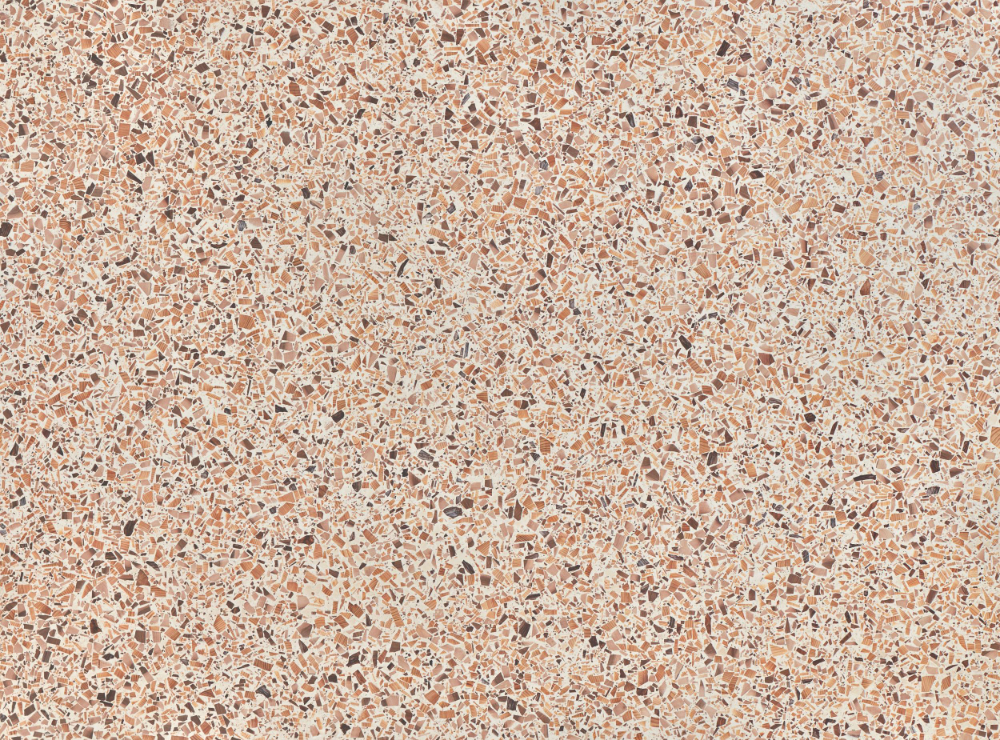 A seamless terrazzo texture with ivory duo  arranged in a none pattern