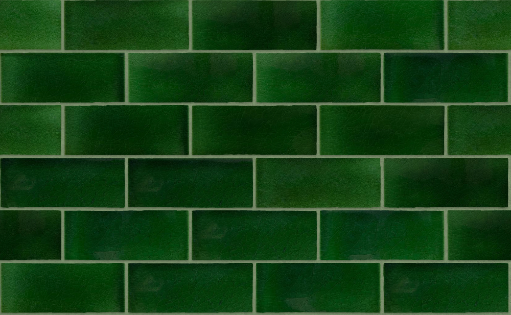 A seamless ceramic texture with victorian glazed tiles arranged in a stretcher pattern