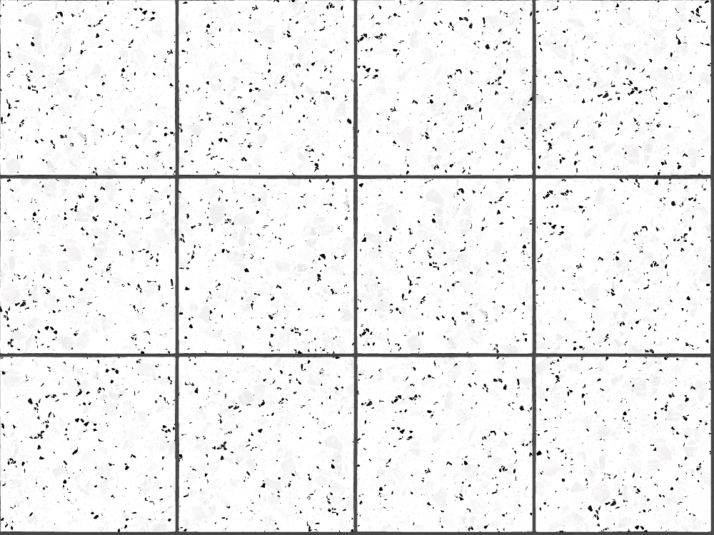A seamless terrazzo texture with mono terrazzo  arranged in a stack pattern
