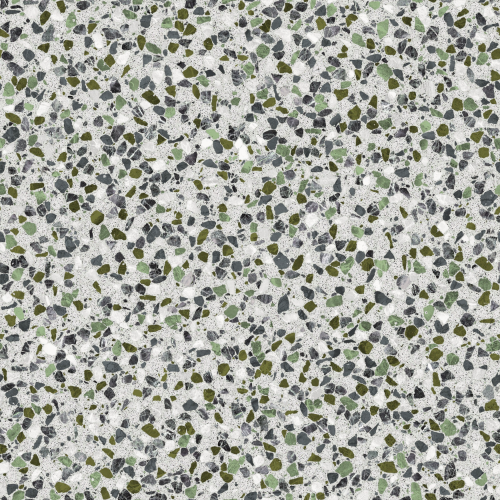 A seamless terrazzo texture with montanita terrazzo  arranged in a none pattern