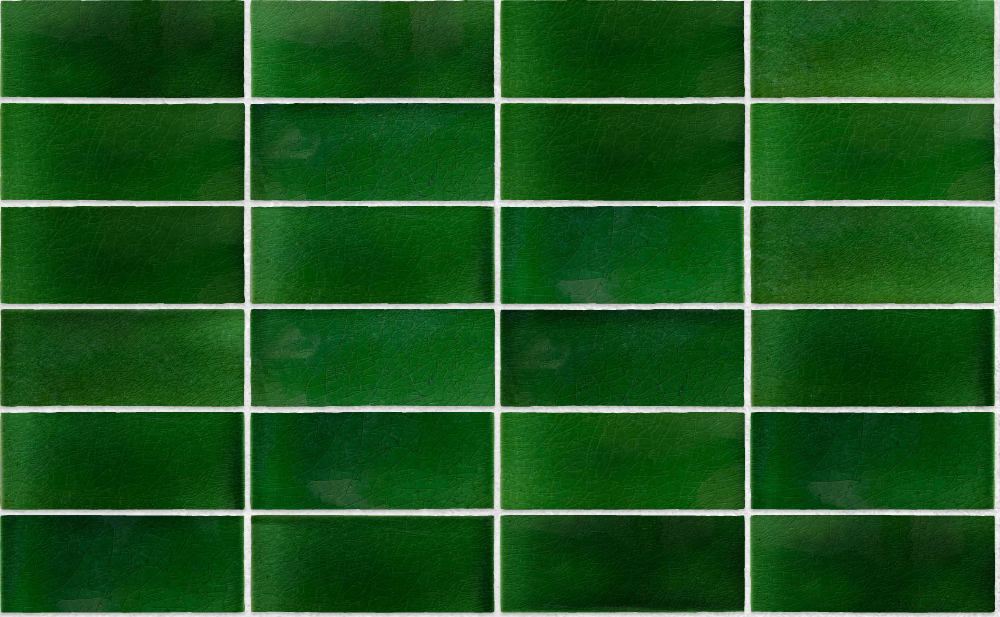 A seamless ceramic texture with victorian glazed tiles arranged in a stack pattern