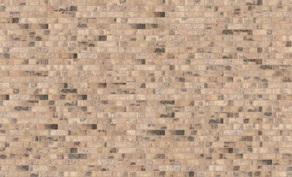 A seamless brick texture with industrial brick  arranged in a stretcher pattern
