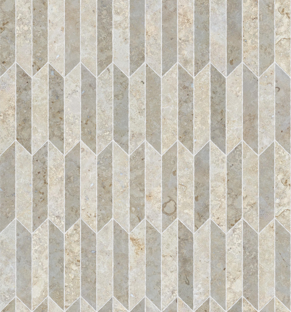 A seamless stone texture with limestone blocks arranged in a chevron pattern
