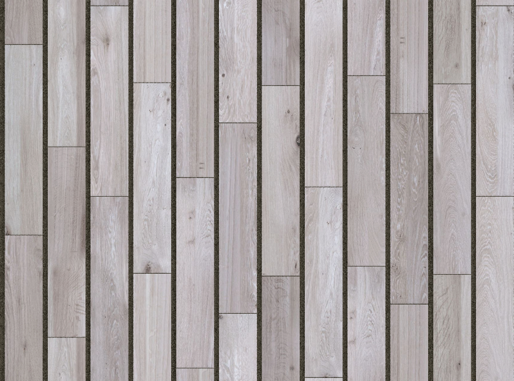 A seamless wood texture with weathered timber boards arranged in a staggered pattern
