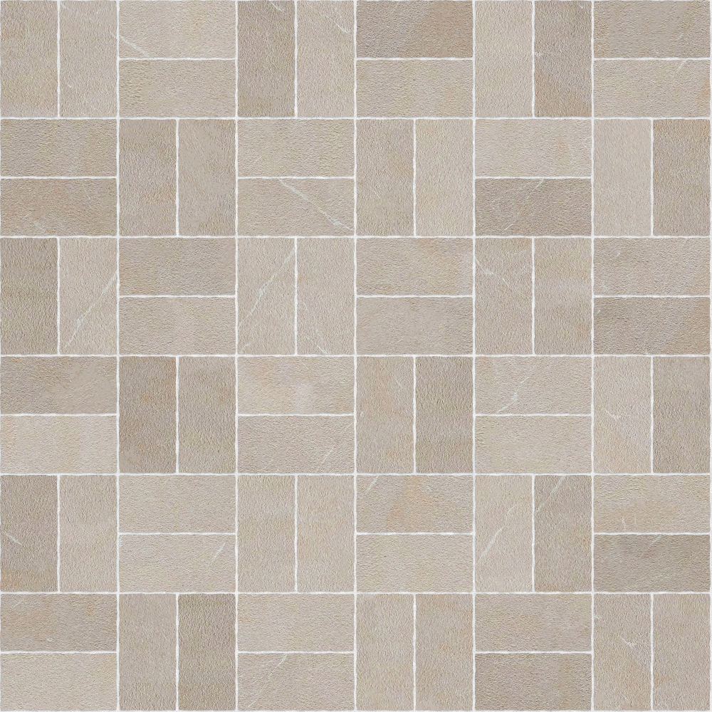 A seamless stone texture with limestone blocks arranged in a basketweave pattern