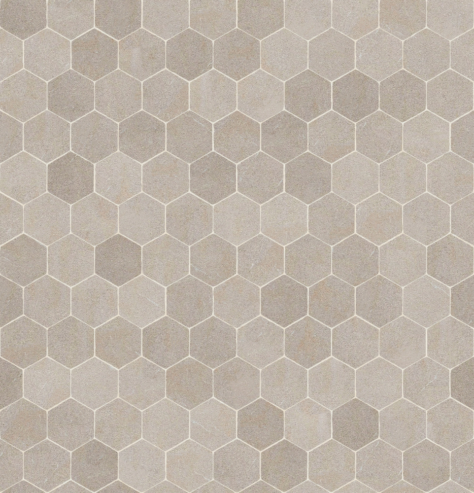 A seamless stone texture with limestone blocks arranged in a hexagonal pattern