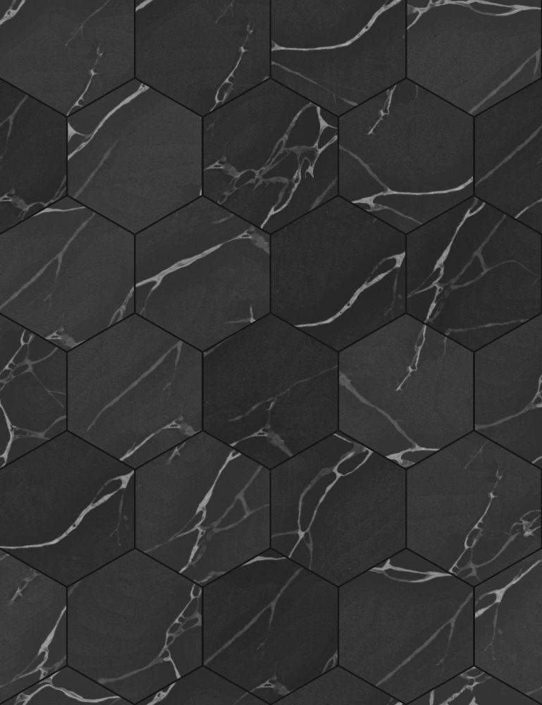 A seamless stone texture with calacatta vena blocks arranged in a hexagonal pattern