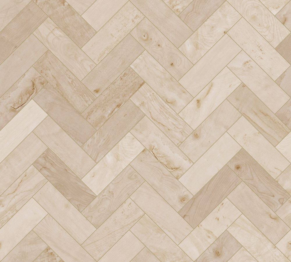 A seamless wood texture with sycamore boards arranged in a herringbone pattern