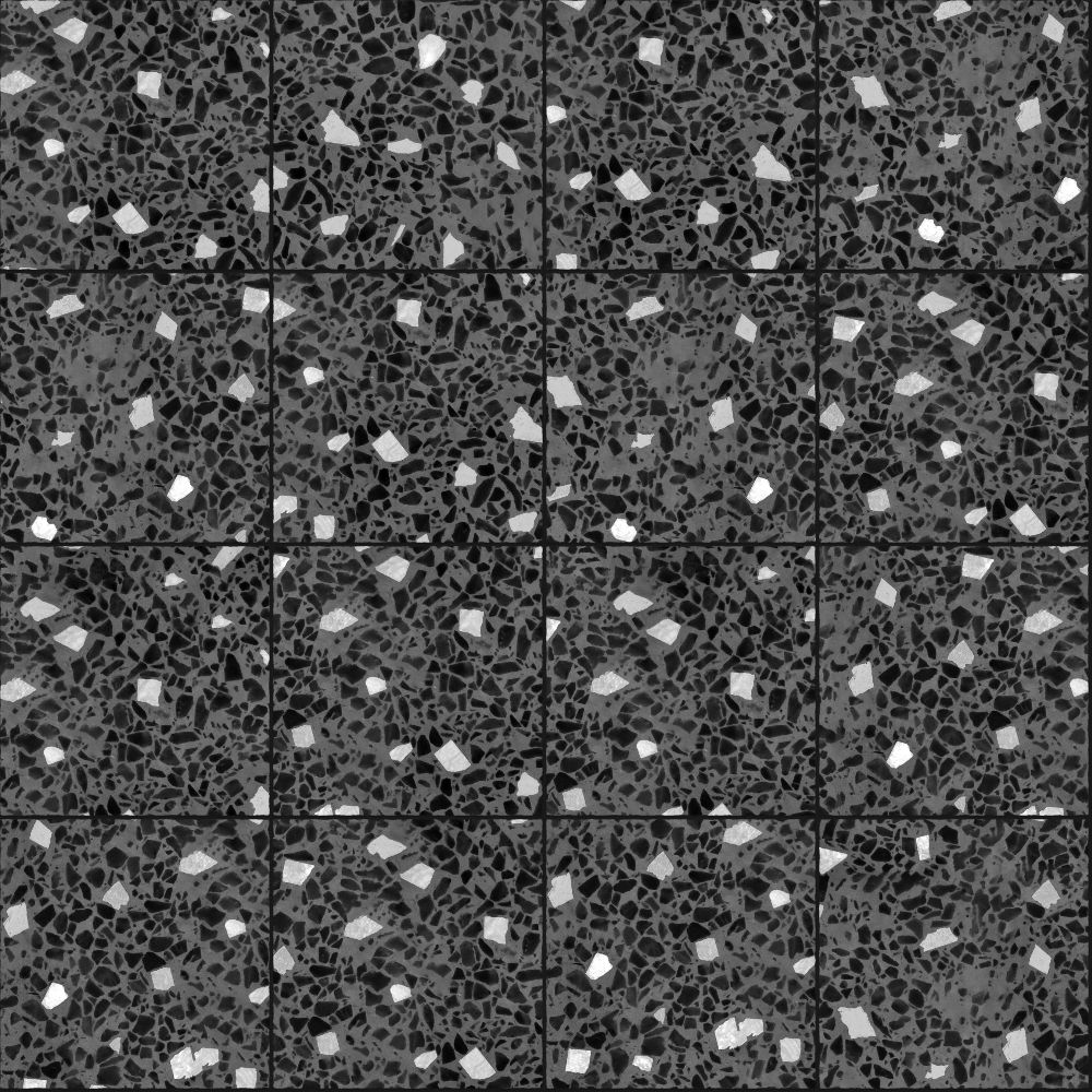 A seamless terrazzo texture with terrazzo artico  arranged in a stack pattern